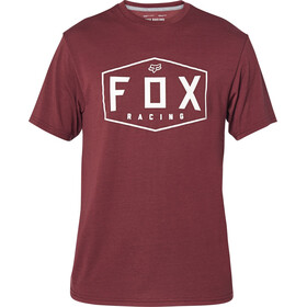Fox Crest Kurzarm Tech T-Shirt Herren cranberry